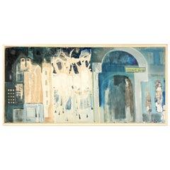 Czech Abstract Oil on Canvas
