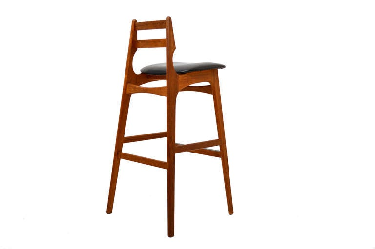 Danish Modern Teak Bar Stools At 1stdibs