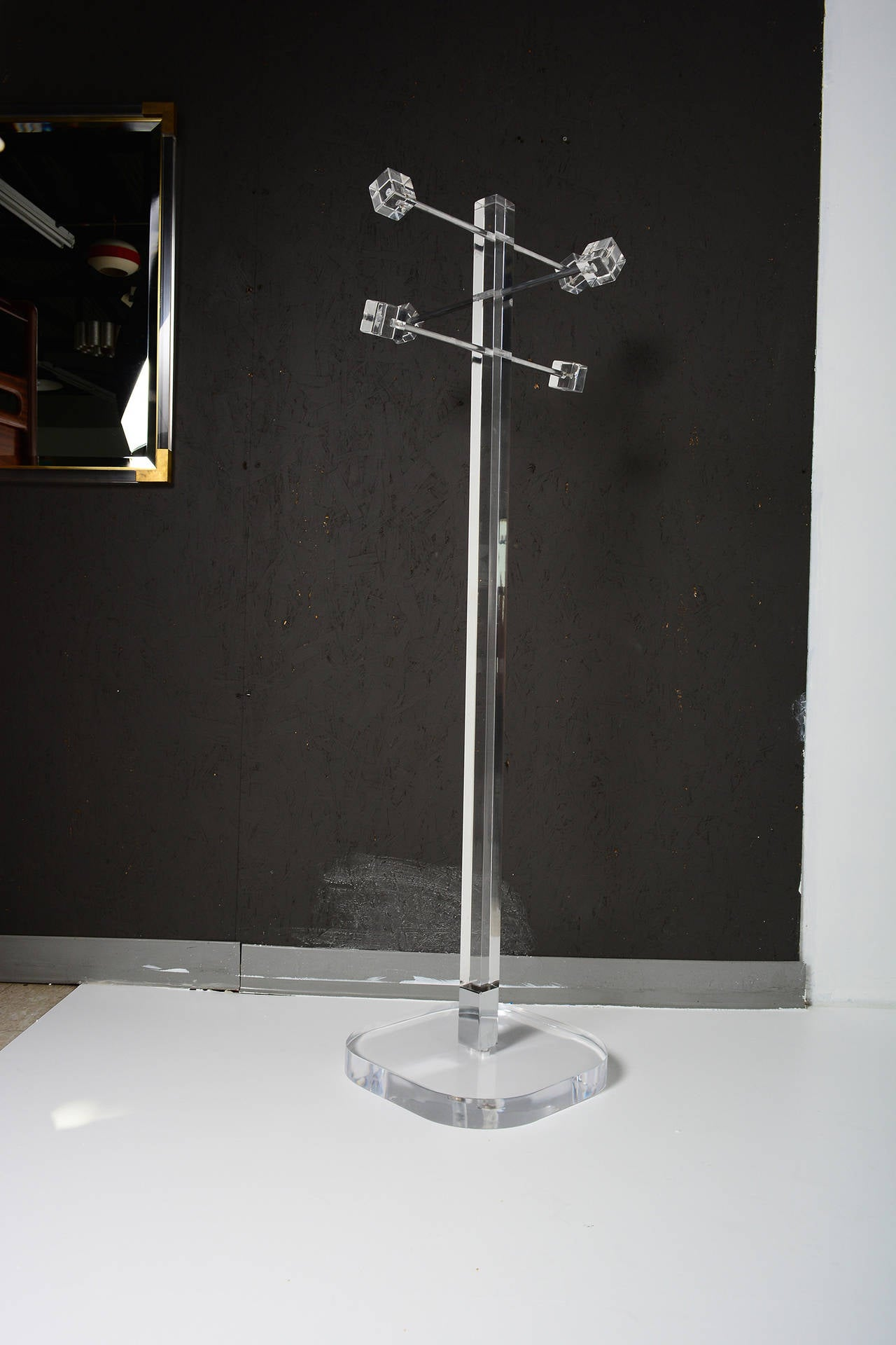 Mid Century Modern Lucite Coat Rack At 1stdibs