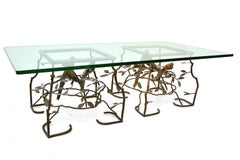 Pair of Bronze Side Tables In The Style Of Giacometti