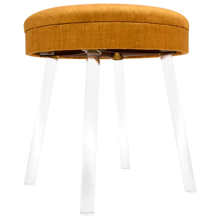 Lucite vanity stool at 1stdibs