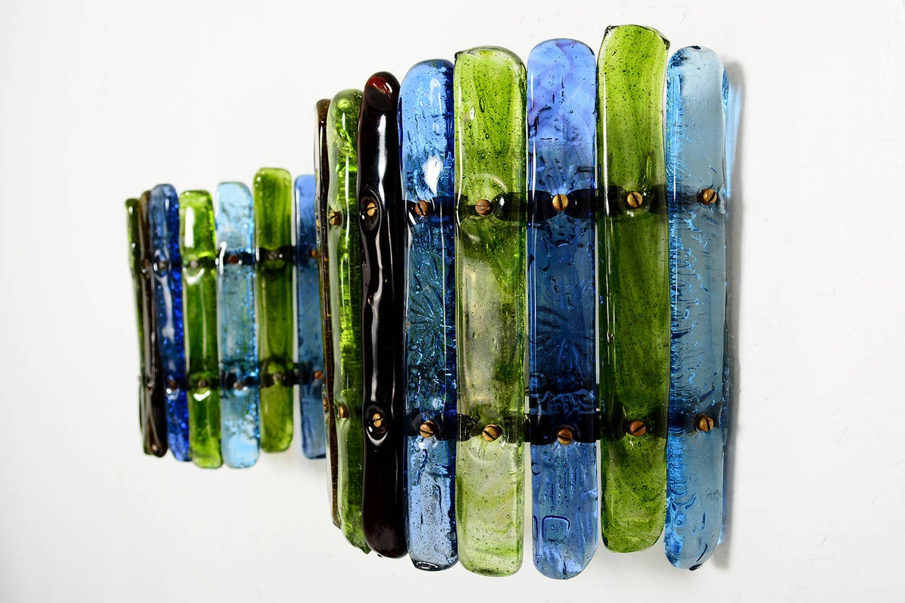 Wall Sconces With Colored Glass : Feders Colored Glass Wall Sconces image 4