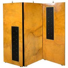 Parchment & Gold Leaf Screen Arturo Pani