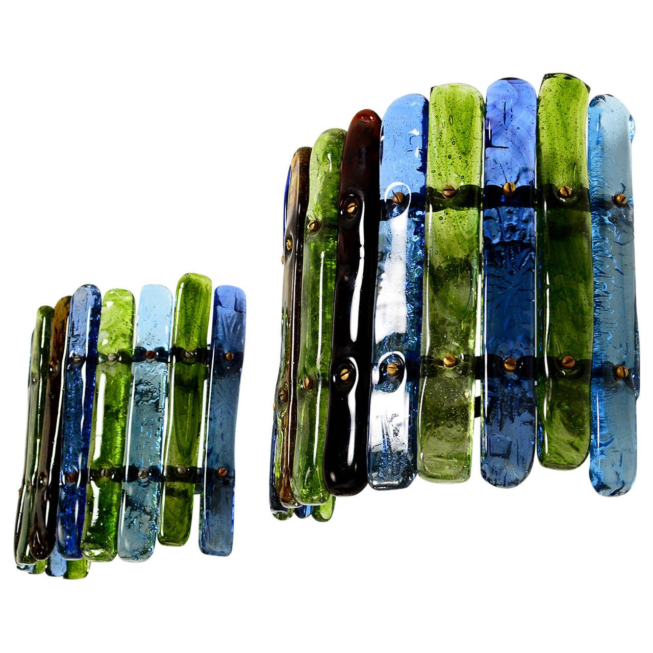 Feders Colored Glass Wall Sconces at 1stdibs