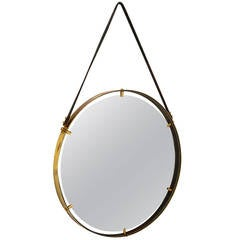 Brass Wall Hanging Mirror AMBIANIC