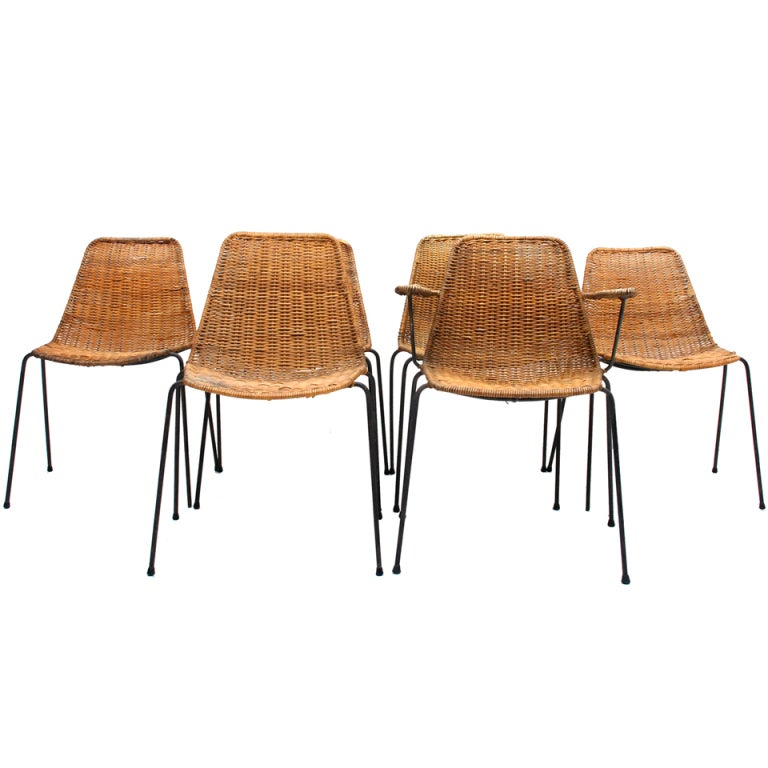 Modern italian dining chairs basket by franco legler at for Italian dining chairs modern