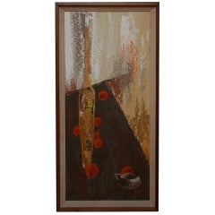Jacques Guyot Oil Canvas Abstract Modernist