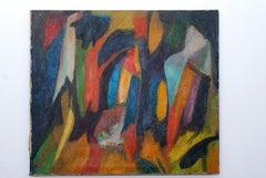 Latin American Mario Beauregard Abstract Oil in Canvas