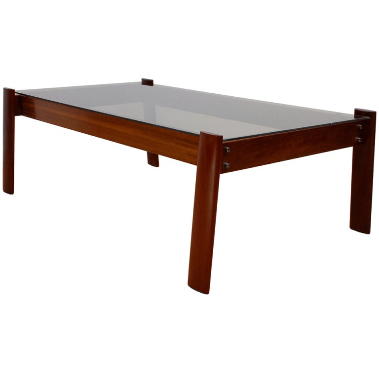 Charles Modern 47 Square Glass Top Coffee Table W: Percival Lafer Jacaranda Rosewood Coffee Table At 1stdibs