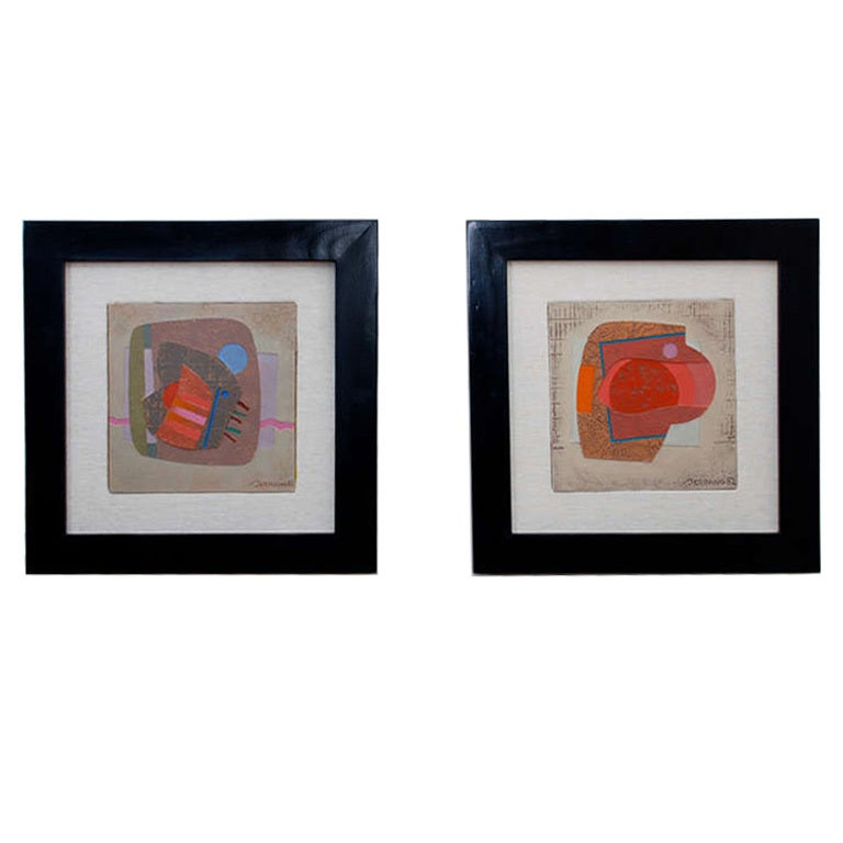Pair of Paintings by José Luis Serrano For Sale