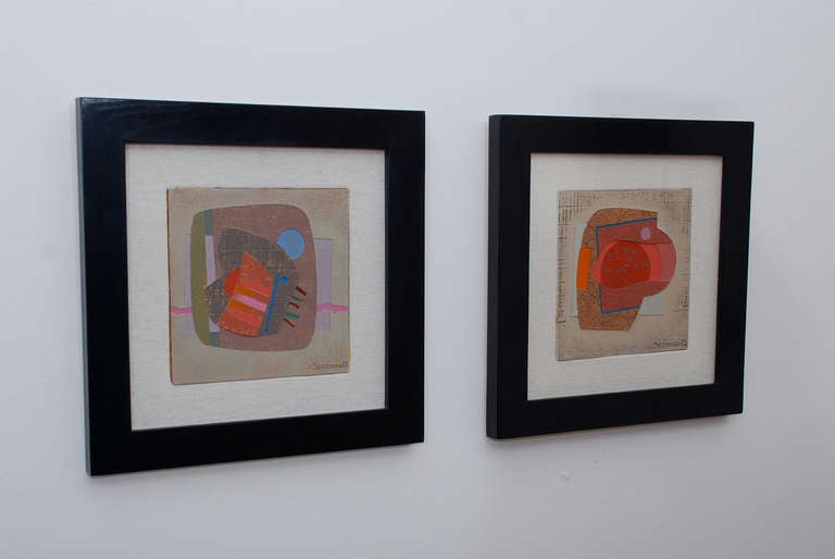 Modern Pair of Paintings by José Luis Serrano For Sale