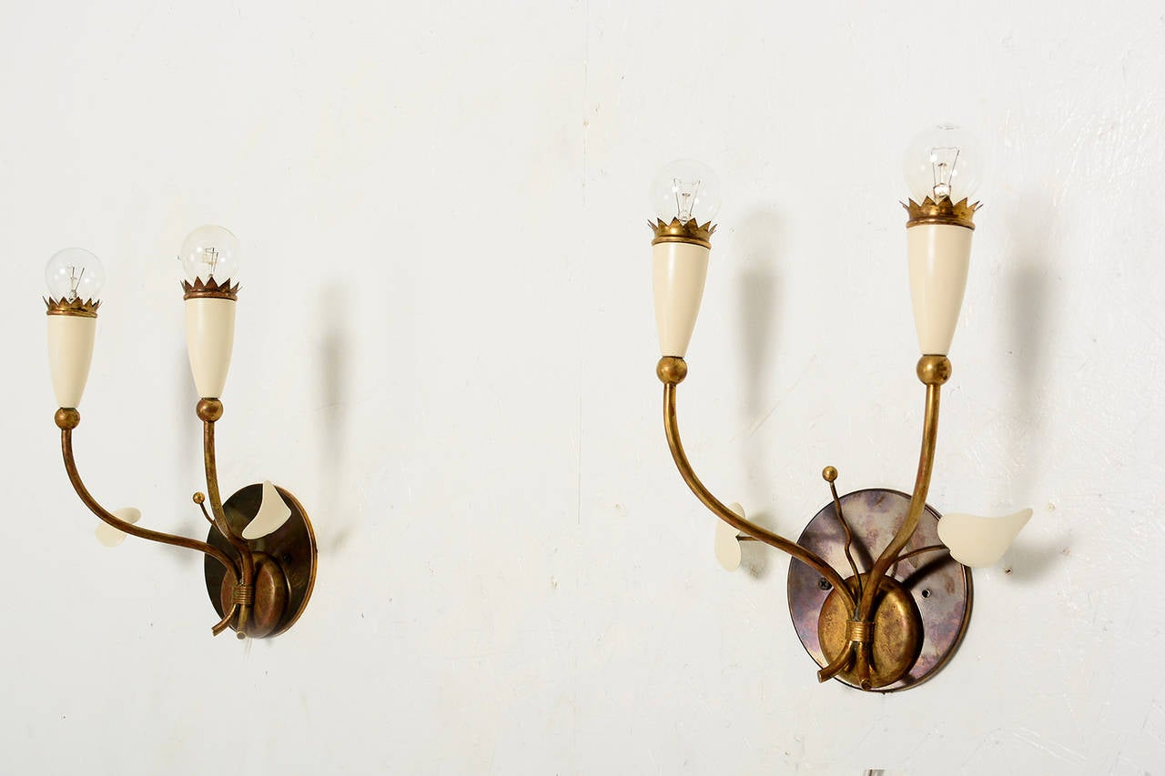 Mid-Century Modern Italian Wall Sconces after Gio Ponti For Sale