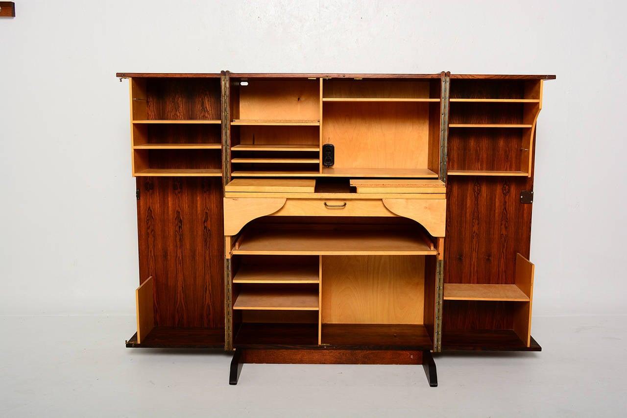 Rosewood Hideaway Desk Cabinet at 1stdibs