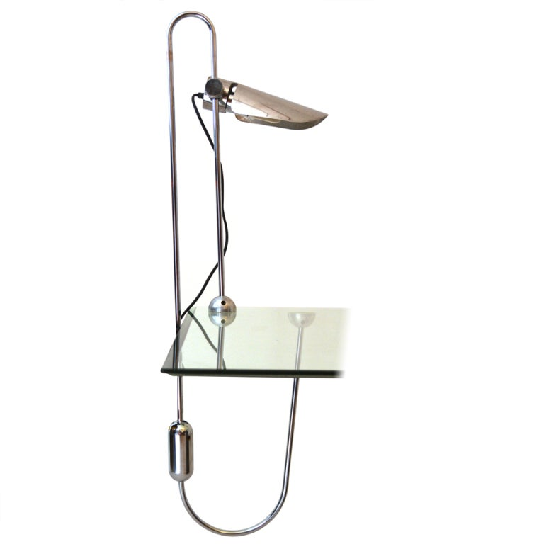 Mid Century Modern Counterbalance Desk Lamp Attributed to Gae Aulenti