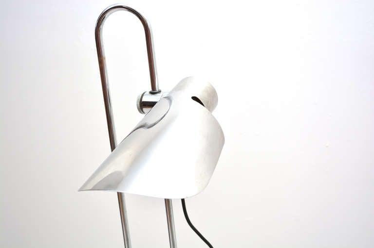 Italian Mid Century Modern Counterbalance Desk Lamp Attributed to Gae Aulenti For Sale