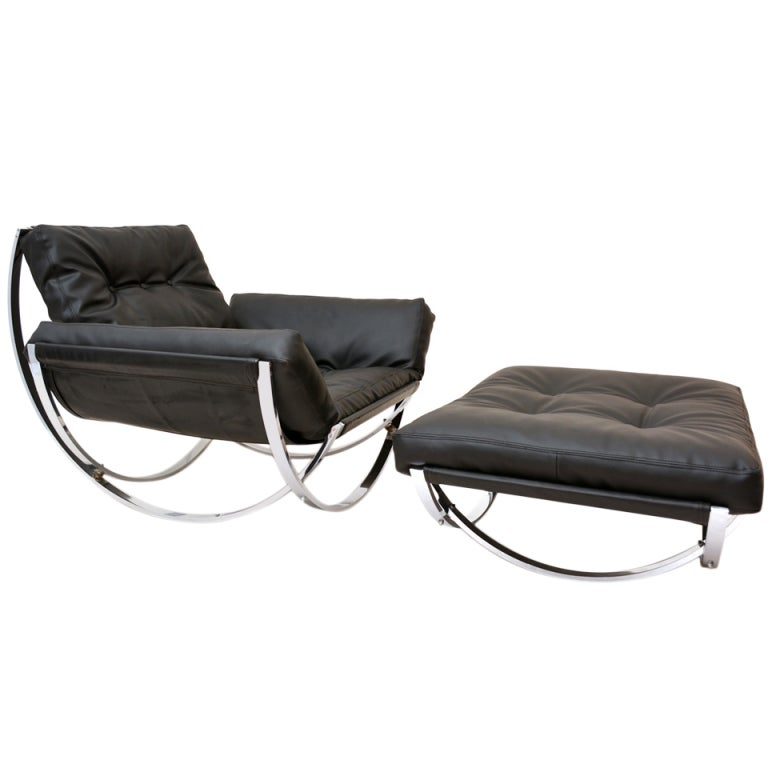 Milo Baughman Lounge Chair & Ottoman