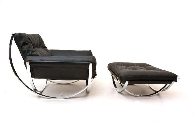 Milo Baughman Lounge Chair And Ottoman At 1stdibs