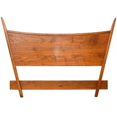 George Nakashima Full Size Walnut Headboard