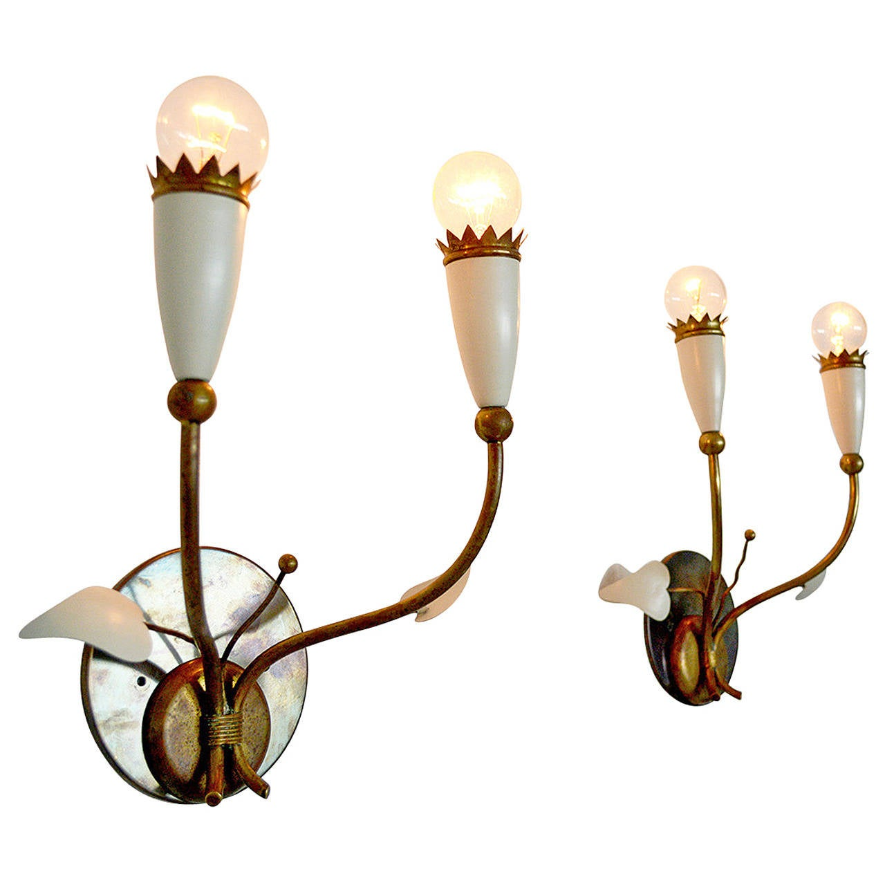 Italian Wall Sconces after Gio Ponti For Sale