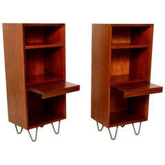 Pair of George Nelson Tall Nightstands for Herman Miller with Hairpin Legs