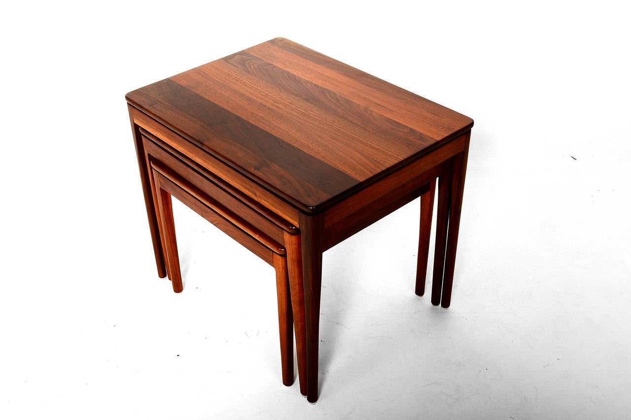 Stackable Nesting Tables ~ Kipp stewart for drexel walnut nesting tables sale at