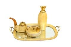 Aldo Tura Macabo Parchment Tea Tobacco Set