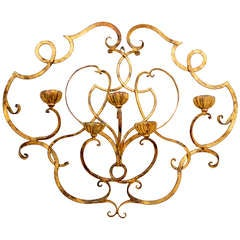 Italian Candelabra Forged Iron Wall Sconce