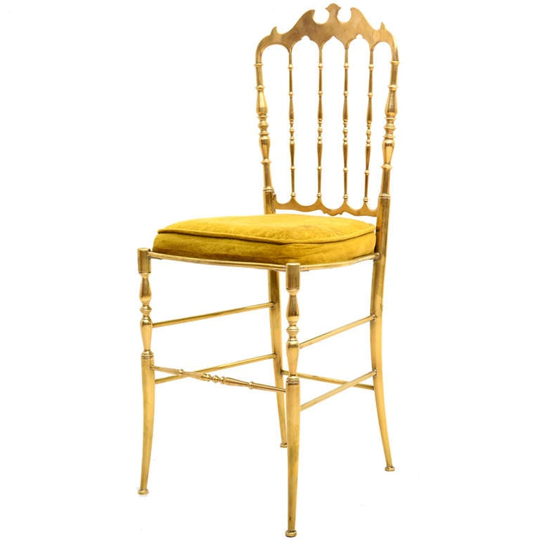 Chiavari Brass Chair At 1stdibs