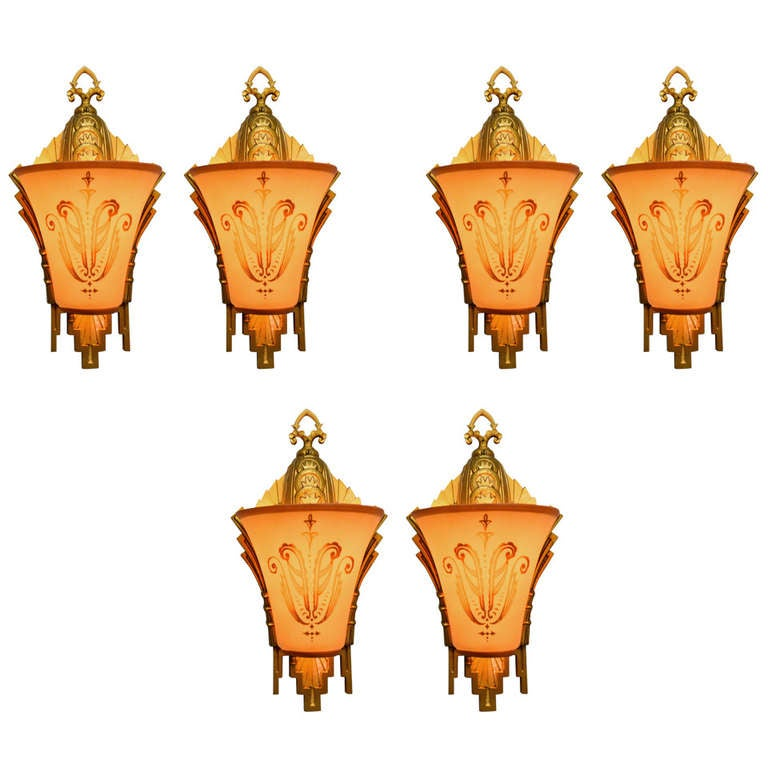 Beardslee co williamson chicago art deco wall sconces at for Art deco furniture chicago
