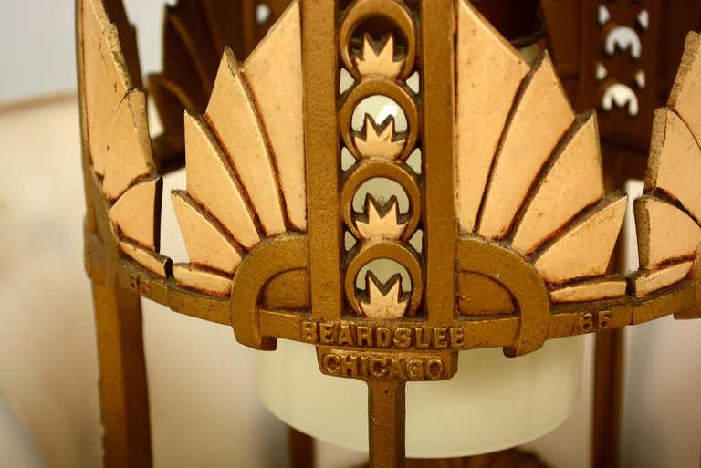 Beardslee co williamson chicago art deco chandelier for for Art deco furniture chicago