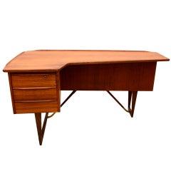 Lovig Teak Desk Boomerang