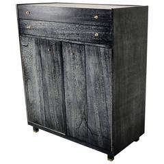 American of Martinsville Cerused Mahogany Highboy
