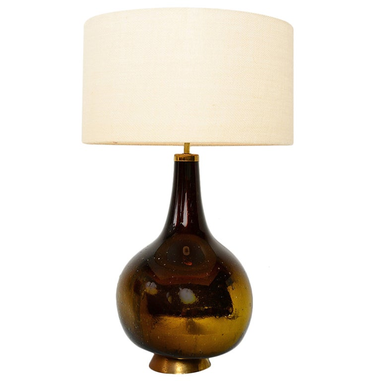 Gold And Yellow Mercury Glass Table Lamp At 1stdibs