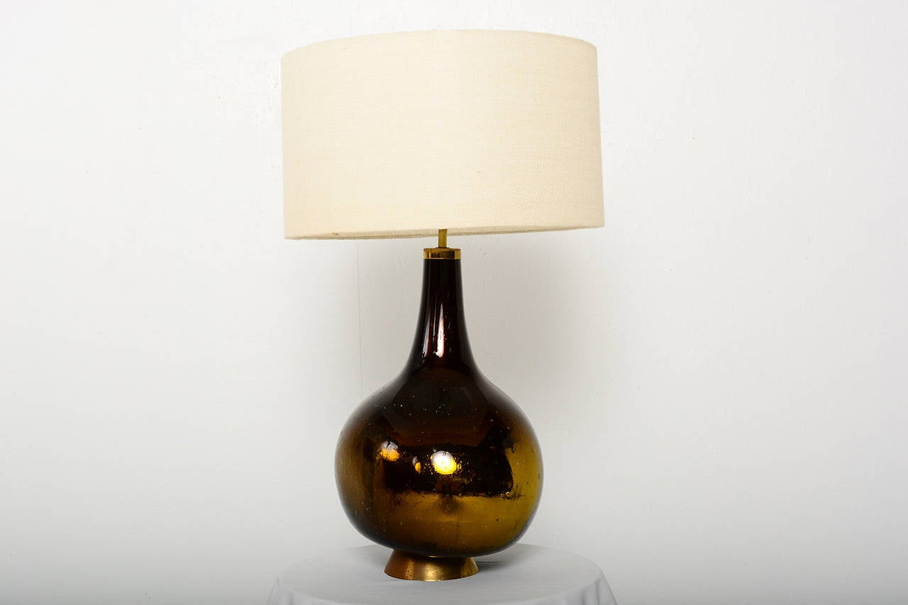 Gold And Yellow Mercury Glass Table Lamp For Sale At 1stdibs
