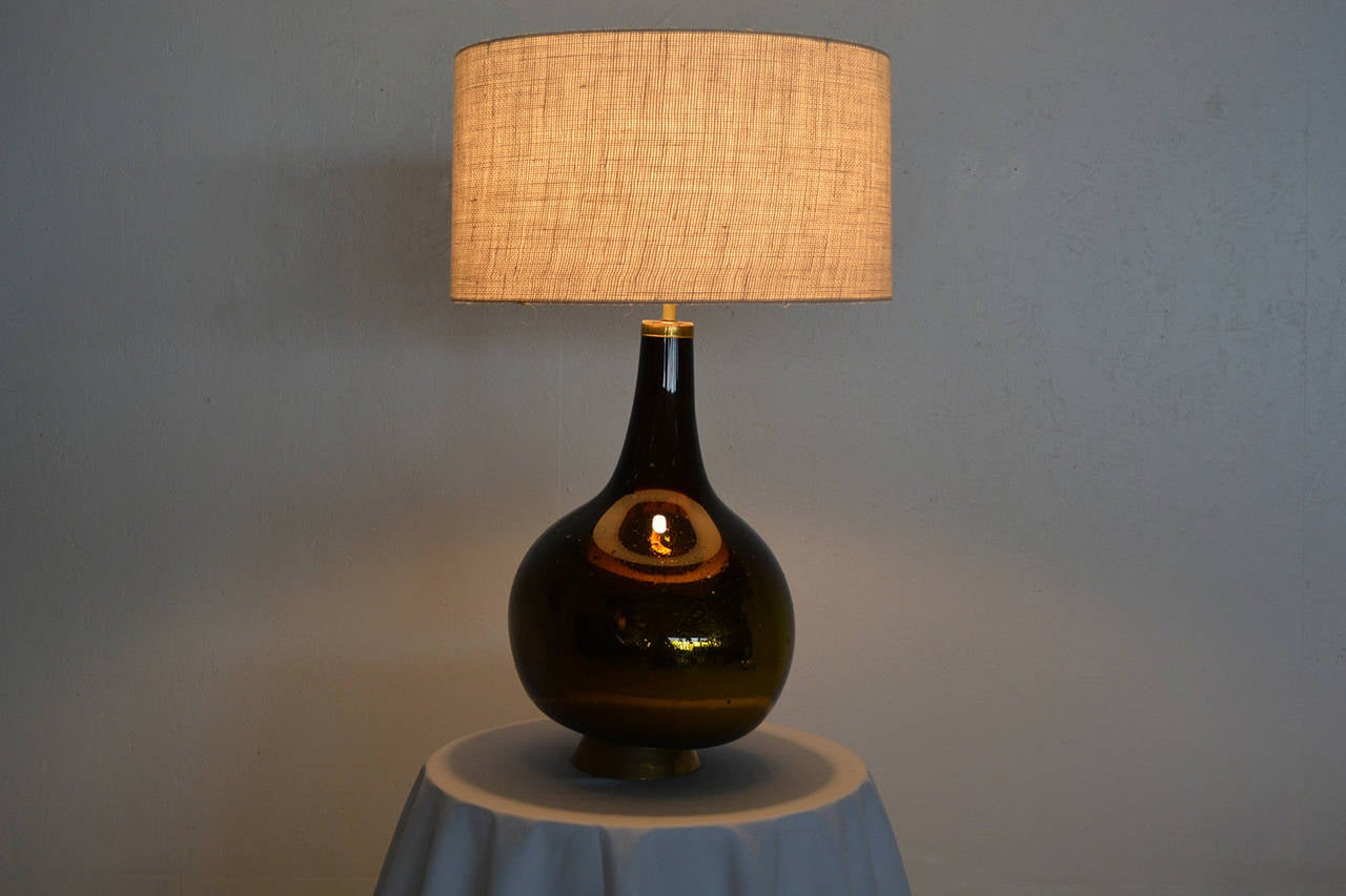 gold and yellow mercury glass table lamp for sale at 1stdibs. Black Bedroom Furniture Sets. Home Design Ideas
