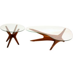 Adrian Pearsall  Coffee Table & Side Table
