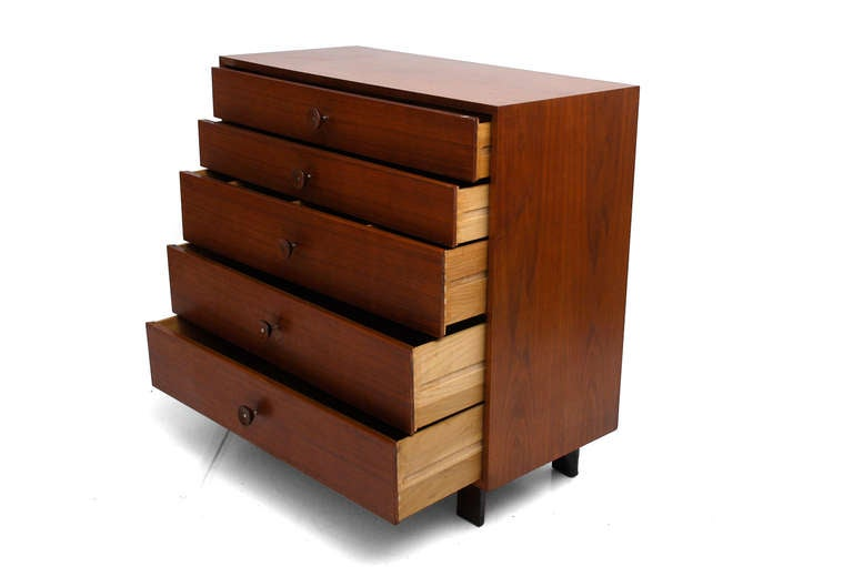 george nelson tall dresser for herman miller for sale at 1stdibs. Black Bedroom Furniture Sets. Home Design Ideas