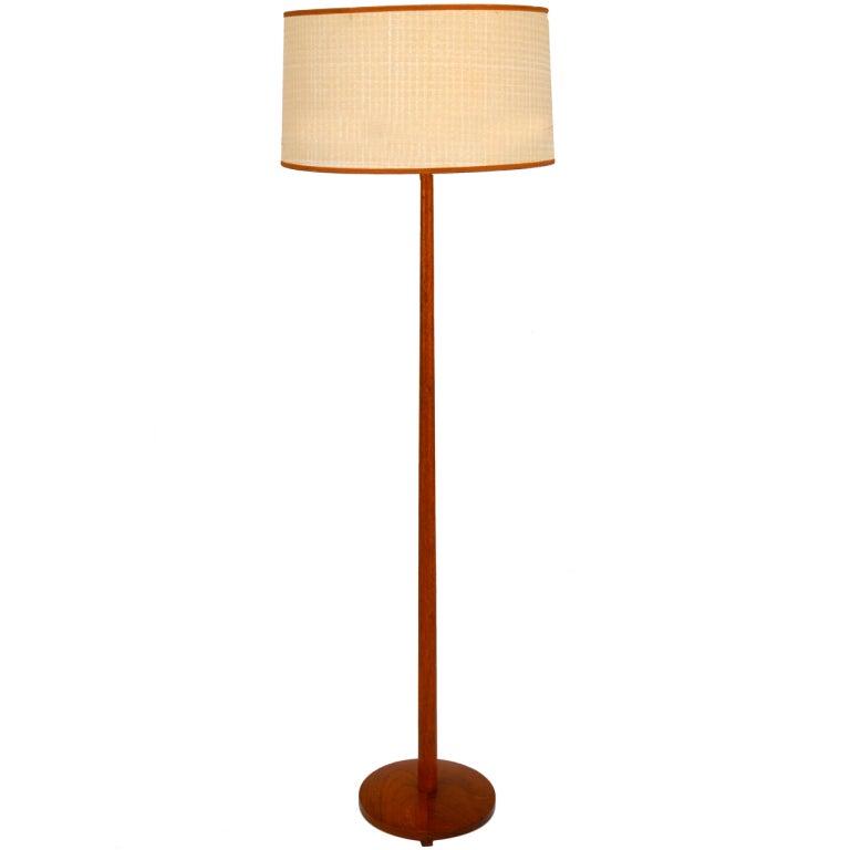 Scandinavian Teak Floor Lamp at 1stdibs