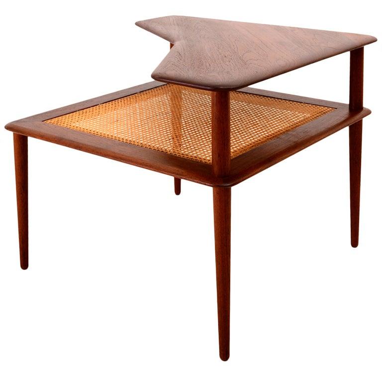 Peter hvidt corner table for france daverkosen at 1stdibs