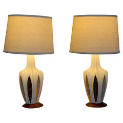 Mid-Century Modern Ceramic Table Lamps