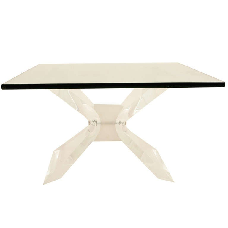 Leon Frost Lucite Coffee Table Base At 1stdibs