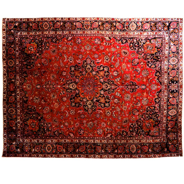 Large Persian Rug Signed For Sale