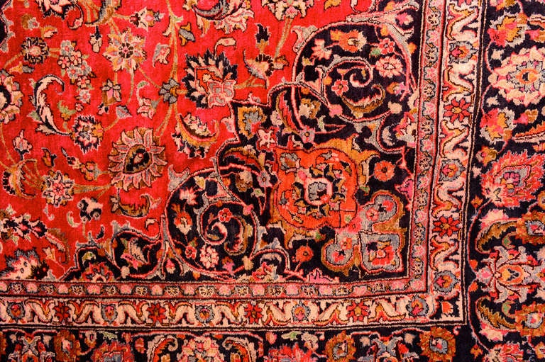 20th Century Large Persian Rug Signed For Sale