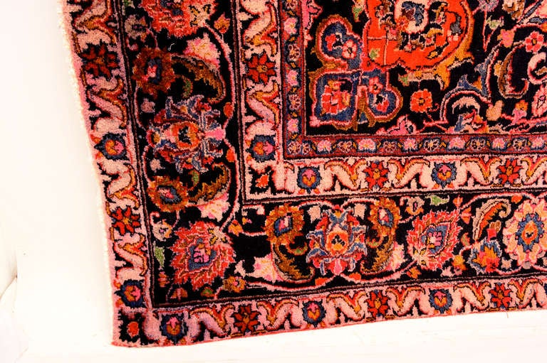 Wool Large Persian Rug Signed For Sale