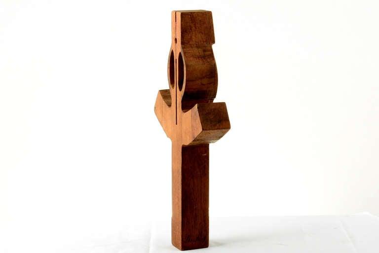 Mid-20th Century Vintage Sculptural Wood Cross