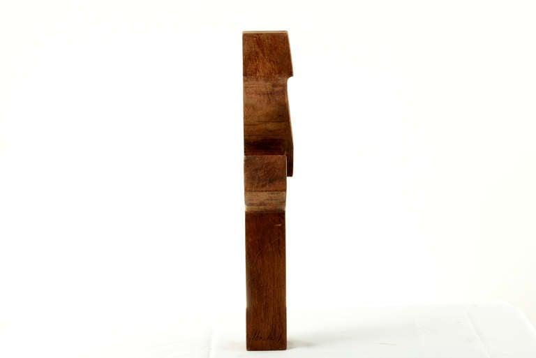 Vintage Sculptural Wood Cross 1