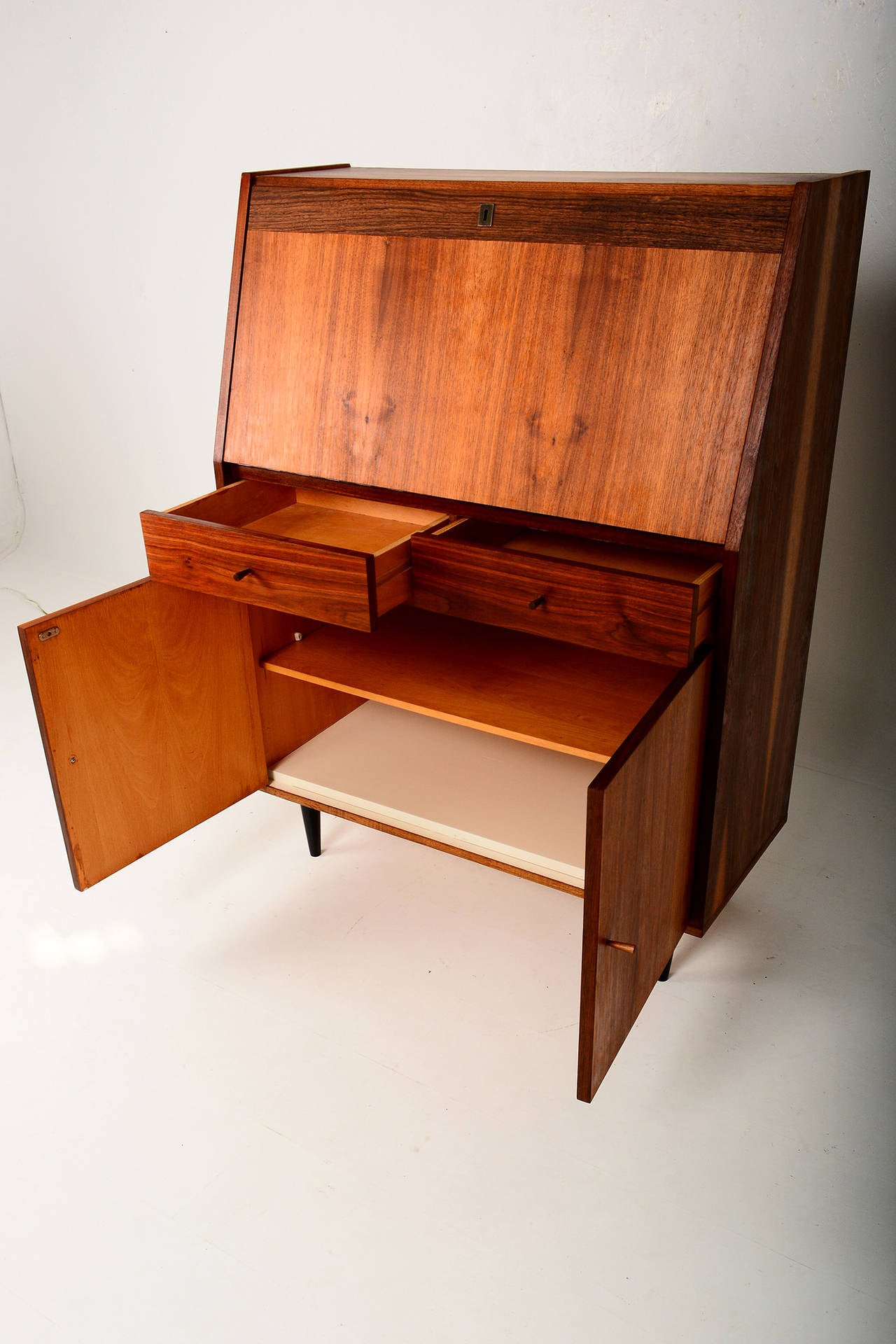 Mid Century Modern Secretary Desk at 1stdibs