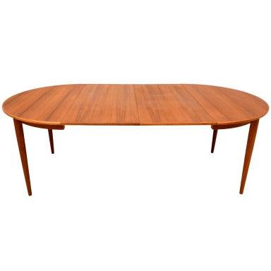 Danish Modern Teak Oval Dining Table