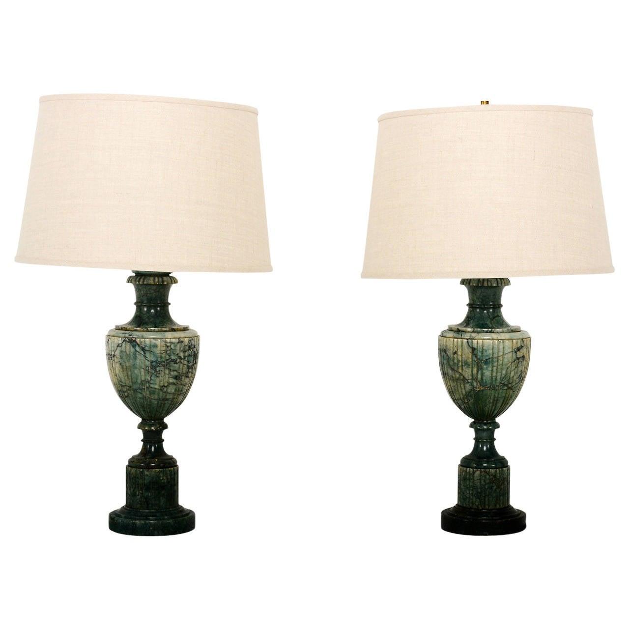 hollywood regency lighting. pair of hollywood regency marble table lamps 1 lighting