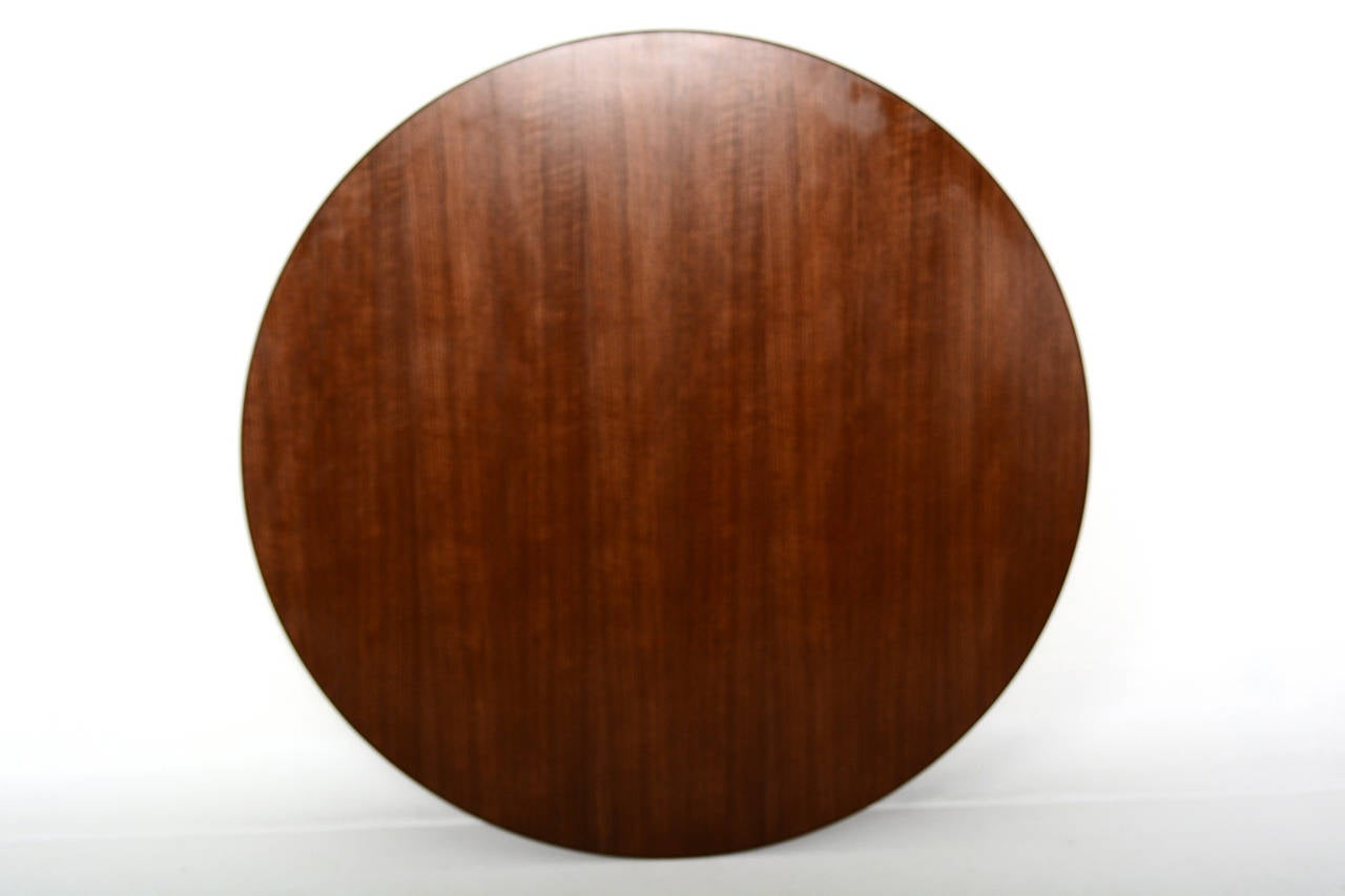 Lacquered Knoll Round Conference or Dining Table For Sale